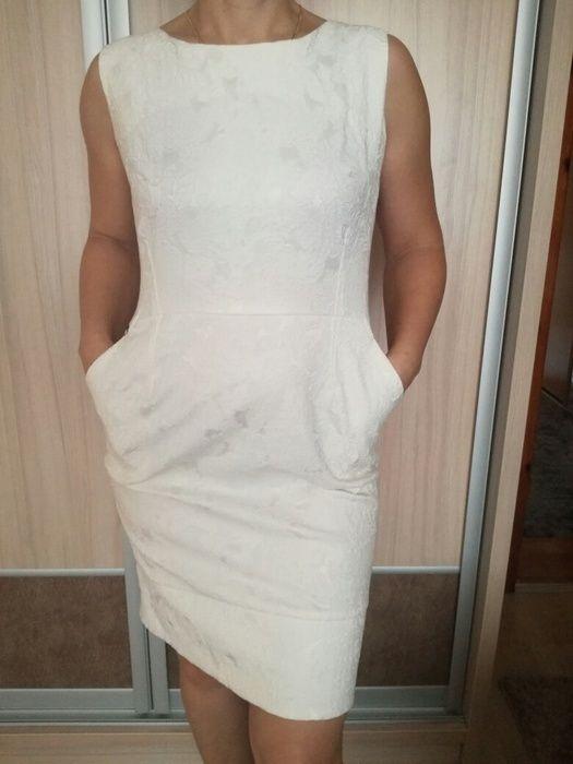 Biała sukienka, rozmiar 42 - vinted.pl