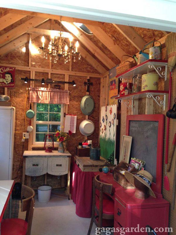 DIY Dream Garden Shed | Garden shed interiors, Shed ...