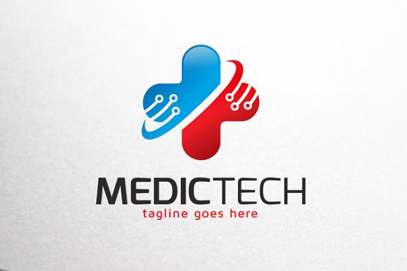 Medical Technology Logo Template by gunaonedesign on Creative Market