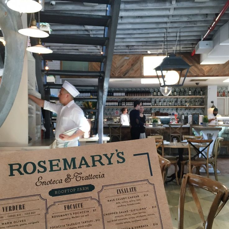 Instagrammable eats in New York: Great lunch and brunch spot in New York. Rosemary's in Greenwich.