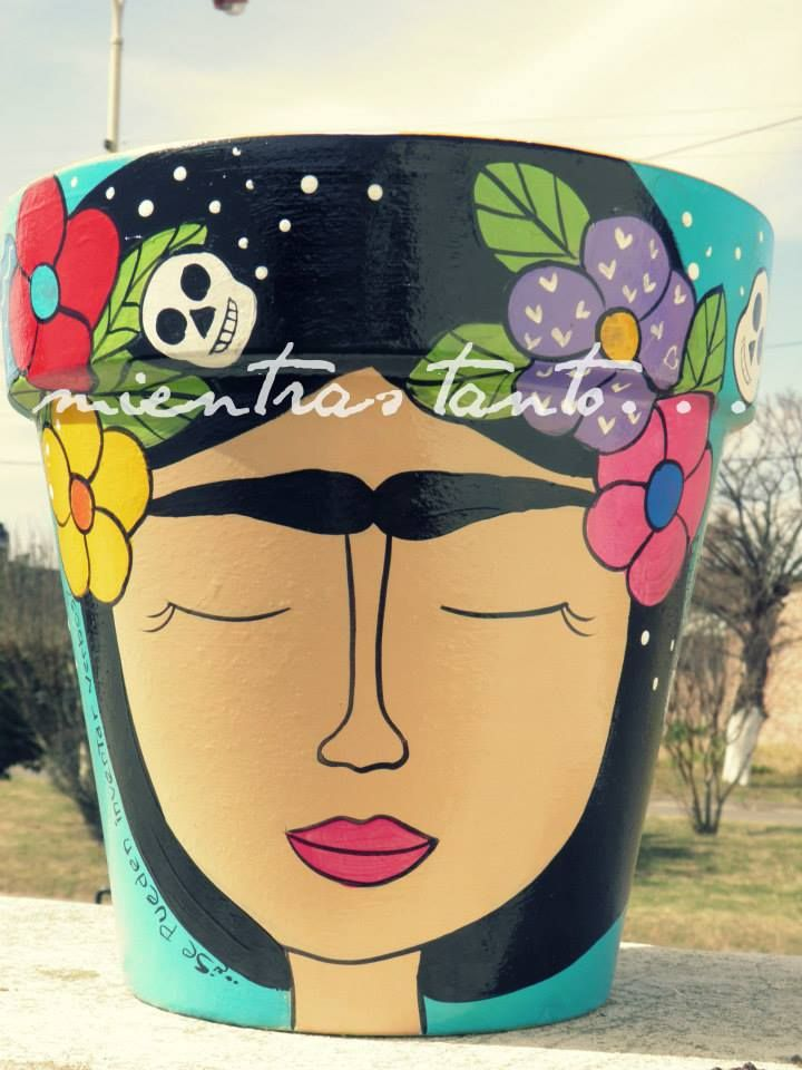 Maceta FRIDA, $140 en https://ofeliafeliz.com.ar