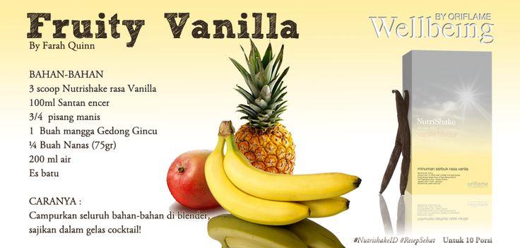 cobain yuk resep ini... #nutrishake vanilla flavour