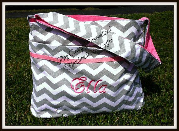Chevron Diaper Bag Personalized Diaper Bag Baby Boy by RagCrazy