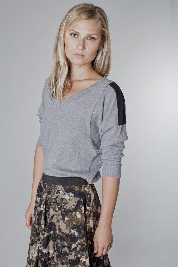 Gray Blouse, Womens Blouse, Plus Size Clothing, Minimalist Blouse, Plus Size Blouse, Oversize Blouse, Party Blouse, Long Sleeve Blouse