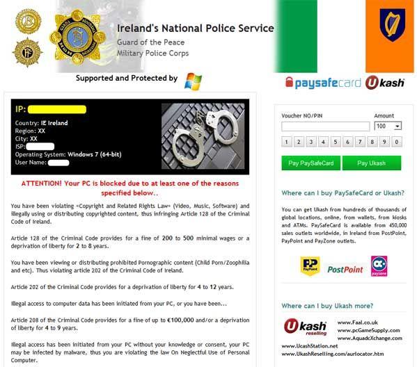 how to unlock computer,ukash virus,computer has been locked down, remove Garda Síochána