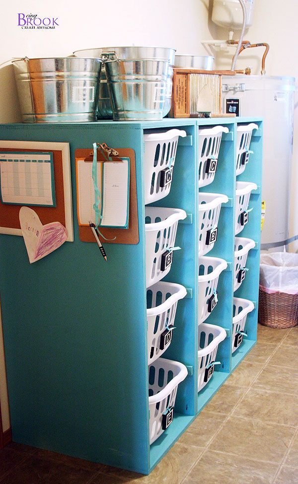 Ana White | Build a Brook Laundry Basket Dresser - 4 Tall and Lengthwise | Free and Easy DIY Project and Furniture Plans