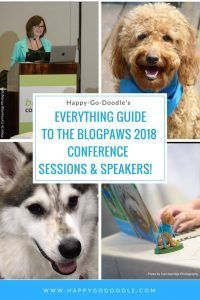 Happy-Go-Doodle's Everything Guide to the BlogPaws 2018 Conference Sessions & Speakers. Take a tour through what the BlogPaws conference sessions offer, how to sign up, and why the BlogPaws educational sessions and speakers will help jumpstart your pet-loving dreams.