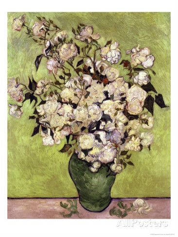 Vase of Roses Giclee Print by Vincent van Gogh at AllPosters.com