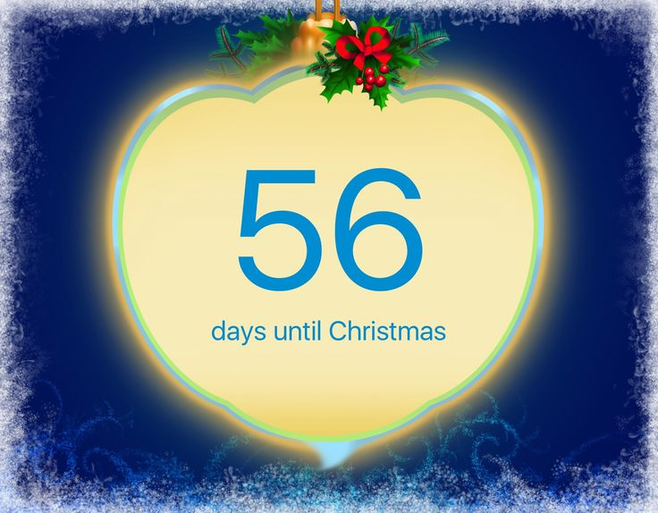 I'm counting days to Christmas using this Christmas Countdown app: http://itunes.apple.com/app/id725440538