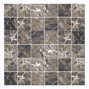 Dark Emperador Tumbled. For ensuite.