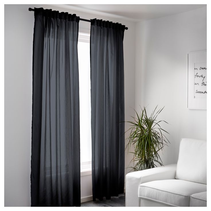 IKEA VIVAN curtains, 1 pair The curtains can be used on a curtain rod or a curtain track.