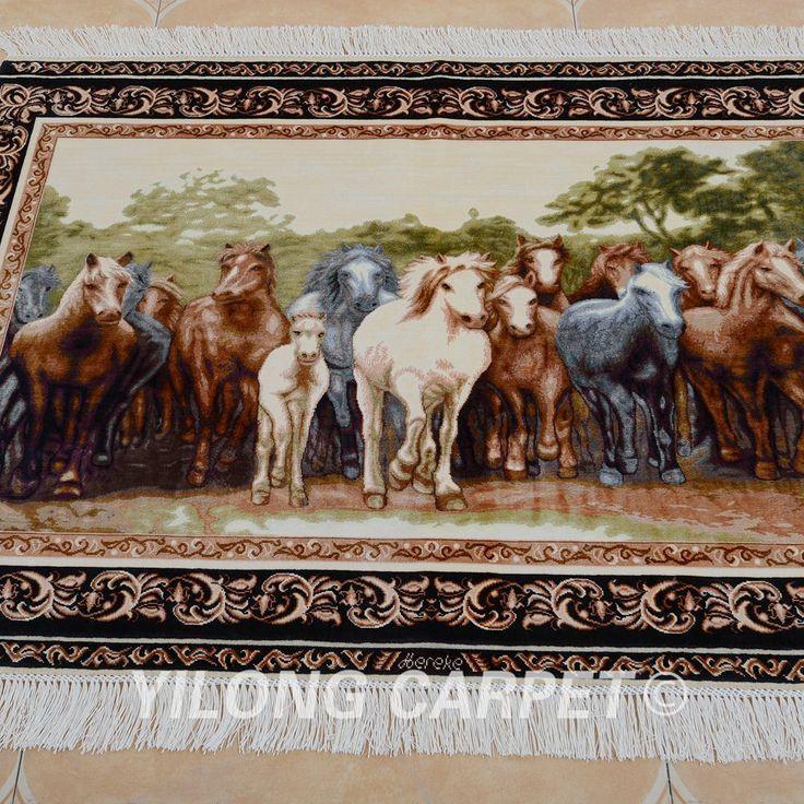 Yilong 3'x4' Antique house design silk car…