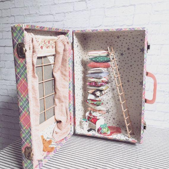 Prinses en de erwt Vintage geval Diorama kwekerij door SwankyEgg