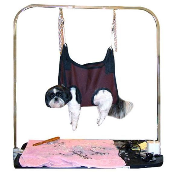"""PSDG GROOMING HAMMOCK click options under """" Breed Size"""