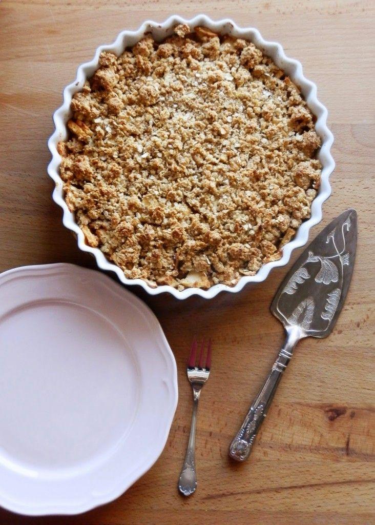 Crumble de maça (com aveia e amêndoa)   A Cozinha da Ovelha Negra