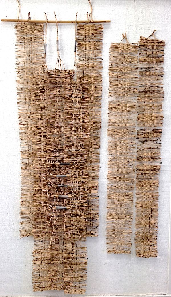 "Marie-Jo Cheret ""Untitled"" 2014; Woven antique telephone cord. Photo by Barbara Shapiro with permission of studio."