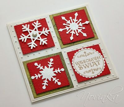 Simple die cut Snowflake card  Use white glimmer paper!
