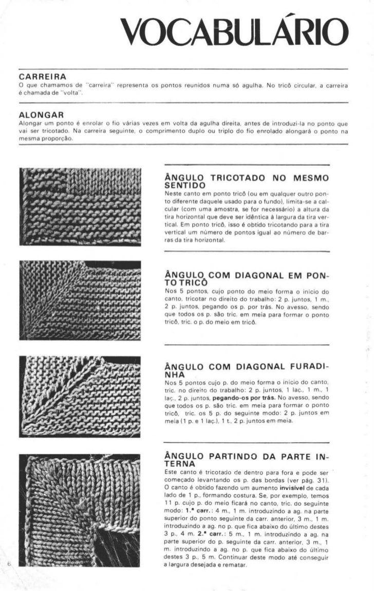 Receita de Tricô: Manual sobre trico