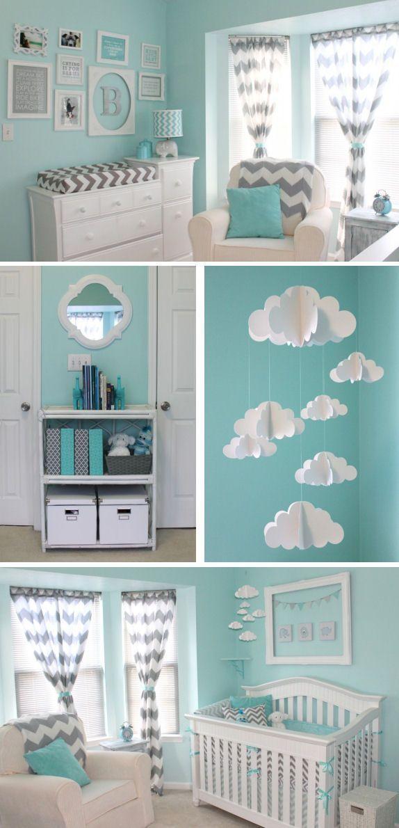 Blue and Gray Nursery nursery baby rooms home decorating nursery ideas kids rooms babies rooms