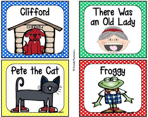 Krazee 4 Kindergarten: Classroom Library Labels