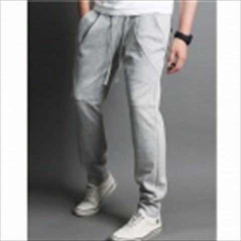 Fashionable Men's Casual Sport Pants - Grayish White (Size-L) $32.94