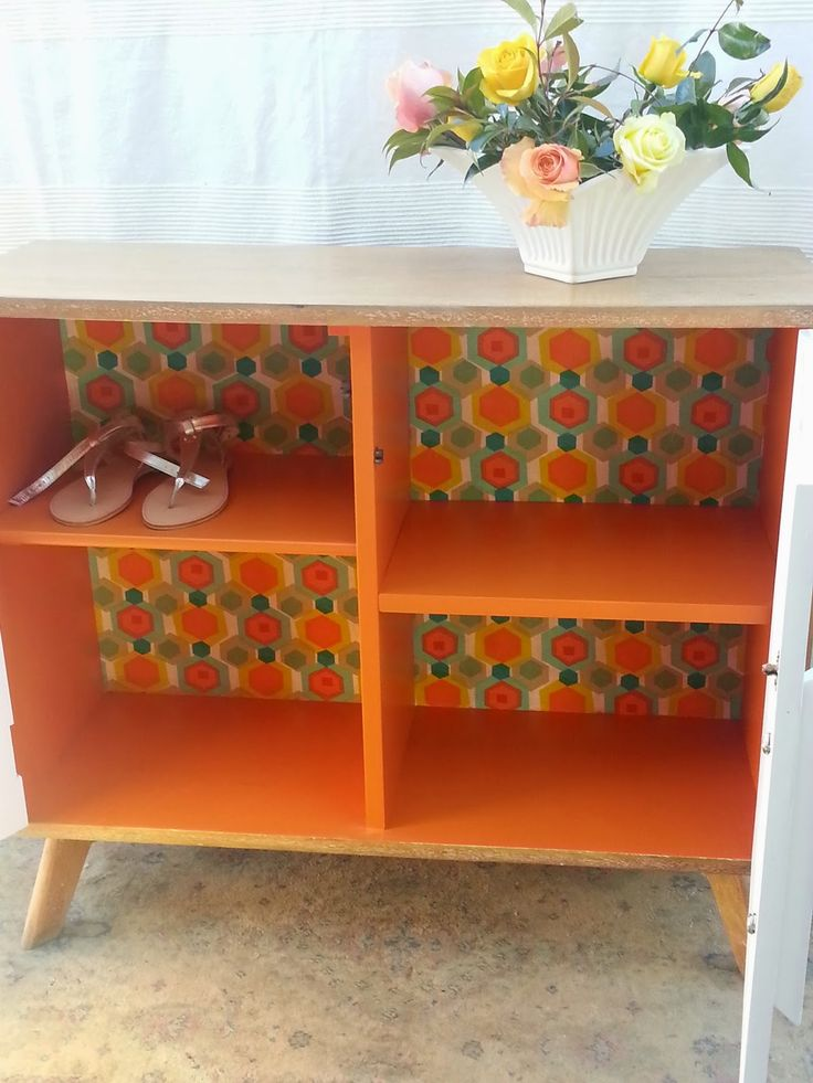 This is the after pic of one of my first upcycling projects. Please visit my blog to see the before pics and the steps I took to transform her.