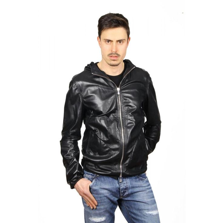 Emporio Armani mens leather jacket R1R19P R1P28 999