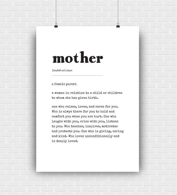 Printable mother design as dictionary concept by GraphicCorner