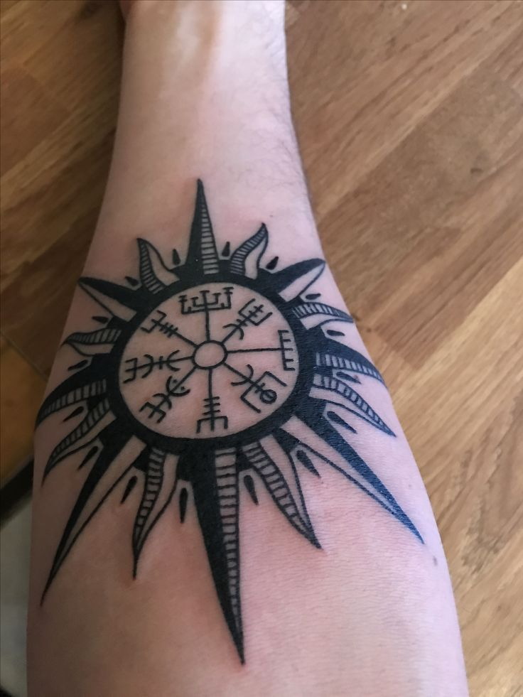 36 best vegvisir tattoo images on pinterest tattoo ideas norse tattoo and viking tattoos. Black Bedroom Furniture Sets. Home Design Ideas