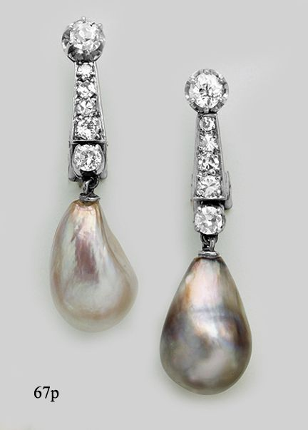 natural-pearl-diamond-platinum-drop-earrings