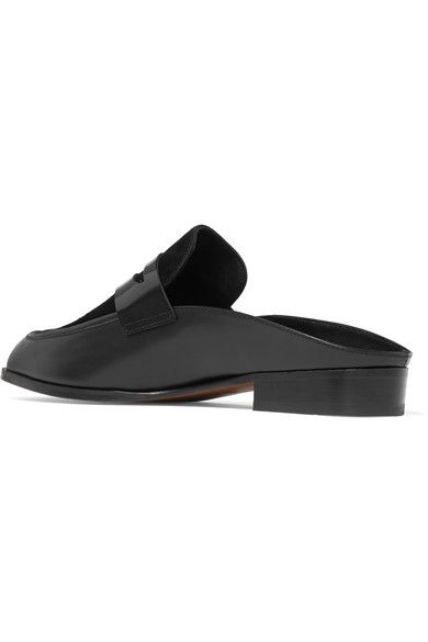 Robert Clergerie - Allan Suede And Patent-paneled Leather Slippers - Black - IT40.5