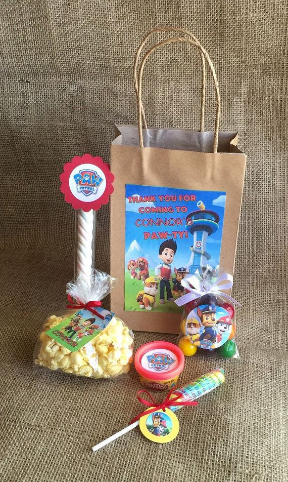 Paw Patrol Birthday Party Favors and Bags by MyPartyElements