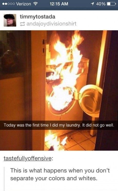 Mary, stop doing the laundry!