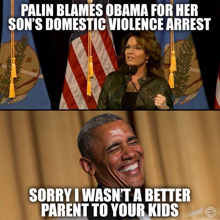 As I recall, she also blamed him for  (her) not getting to be vice president, which is kinda just the way elections work...