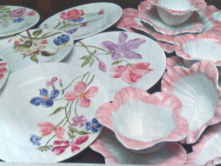 jogo jantar floral