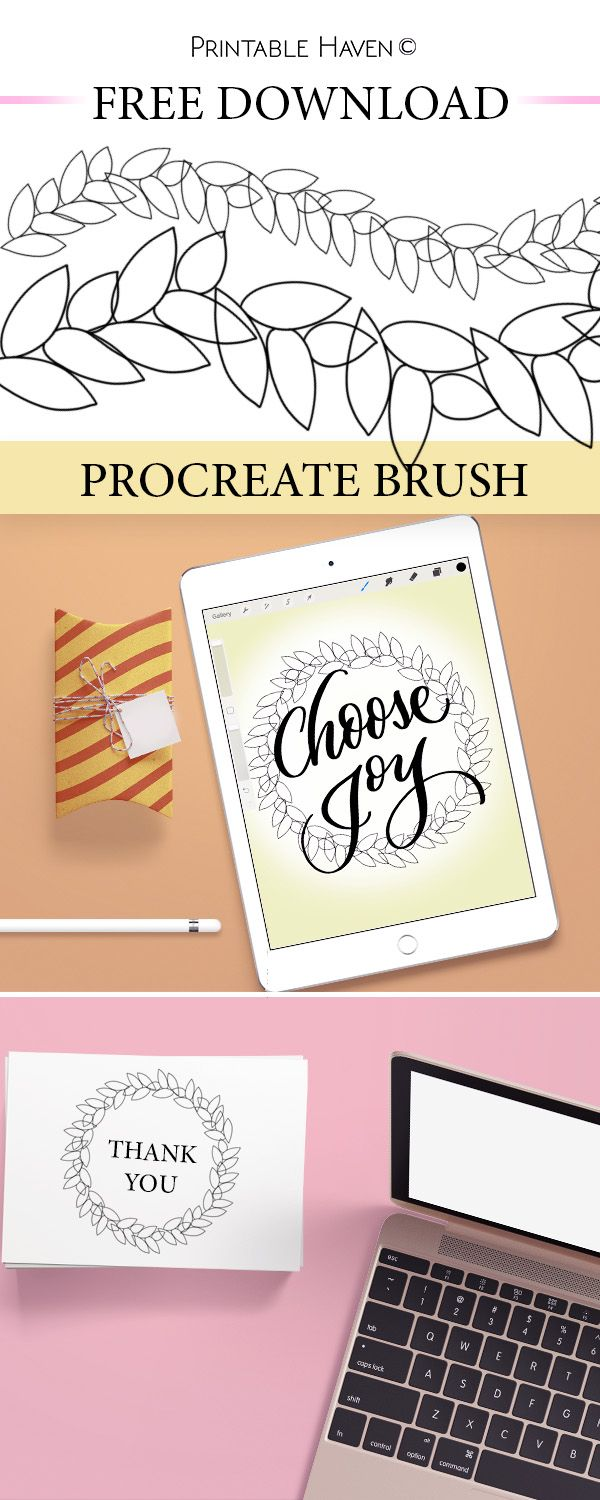 Download this free Procreate Brush – Outlined Leaves!   Enjoying your iPad Pro & Procreate app? Printable Have has made a Procreate brush that you are sure to love! Introducing &#822…