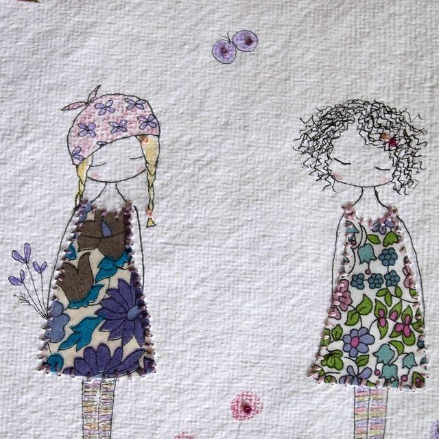 'friends'    -   embroidery + appliqué  -   lili_popo