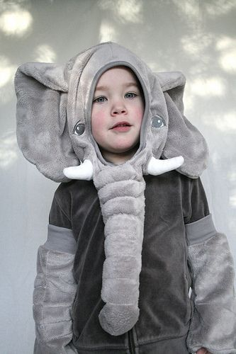 elephant costume hacked from an IKEA softie