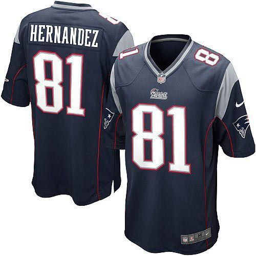 Youth Blue NIKE Game New England Patriots #81 Aaron Hernandez Team Color NFL Jersey$59.99