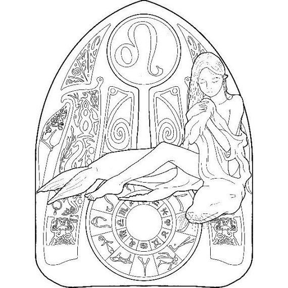 402 best Adult ColouringZodiac Signs images on Pinterest