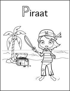 kleurplaat piraat meisje kleurplaten colorings