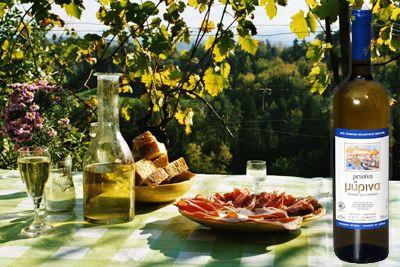 Taste the Organic Greek Limnos Retsina Wine