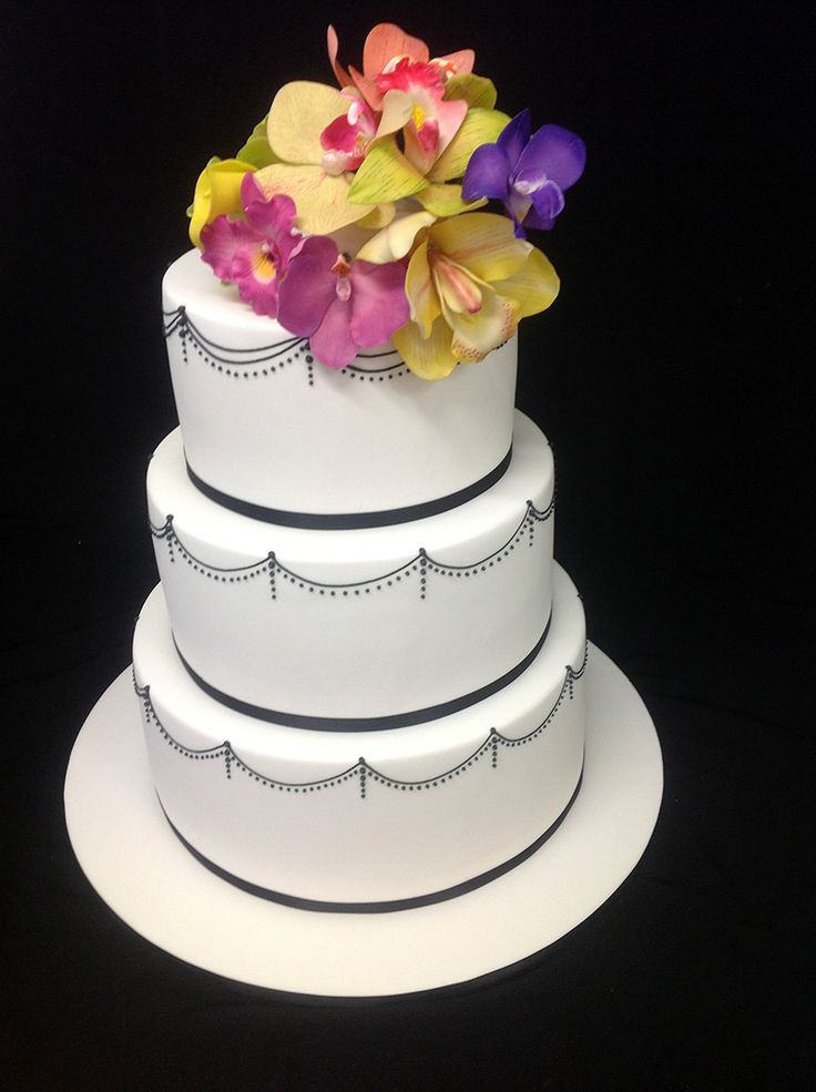 Black Piping #Cakes