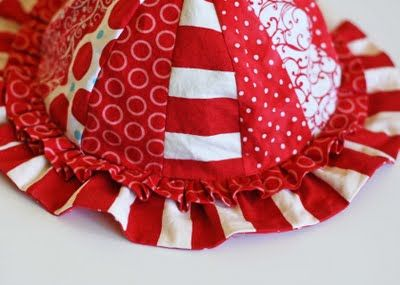 Such cute sun hats that make great use of your scrap basket. Can't wait to make one in every size.