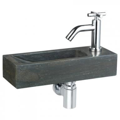 Fonteintje voor klein toilet van de Praxis