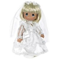Communion Girl, Blonde - 12in Precious Moments Doll, 1490