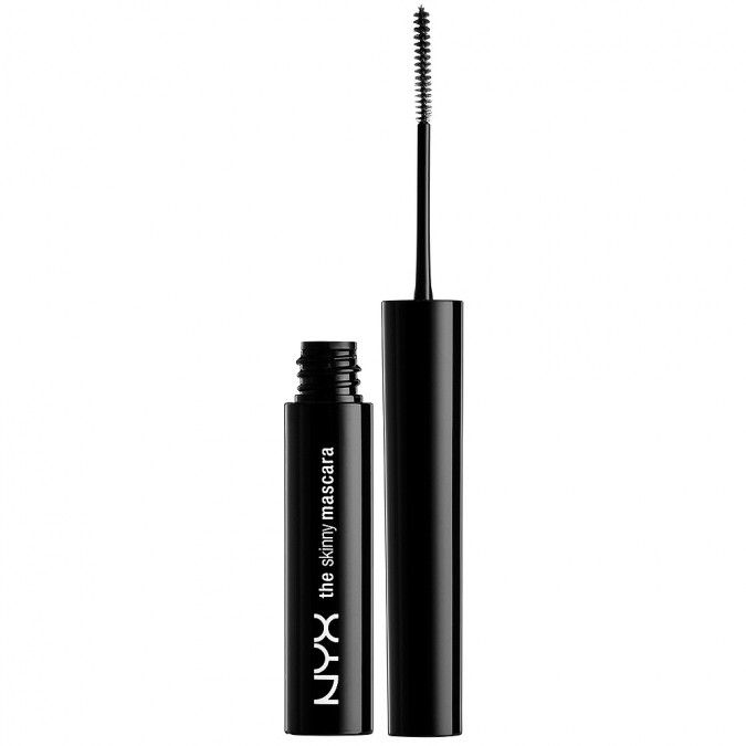 The Skinny Mascara from NYX R129,00 Lengthens lashes. Reaches every lash, even the hard to reach lashes, from root to tip. Is waterproof. Comes in a micro thin brush to define lashes. Conditions lashes with it's natural waxes.