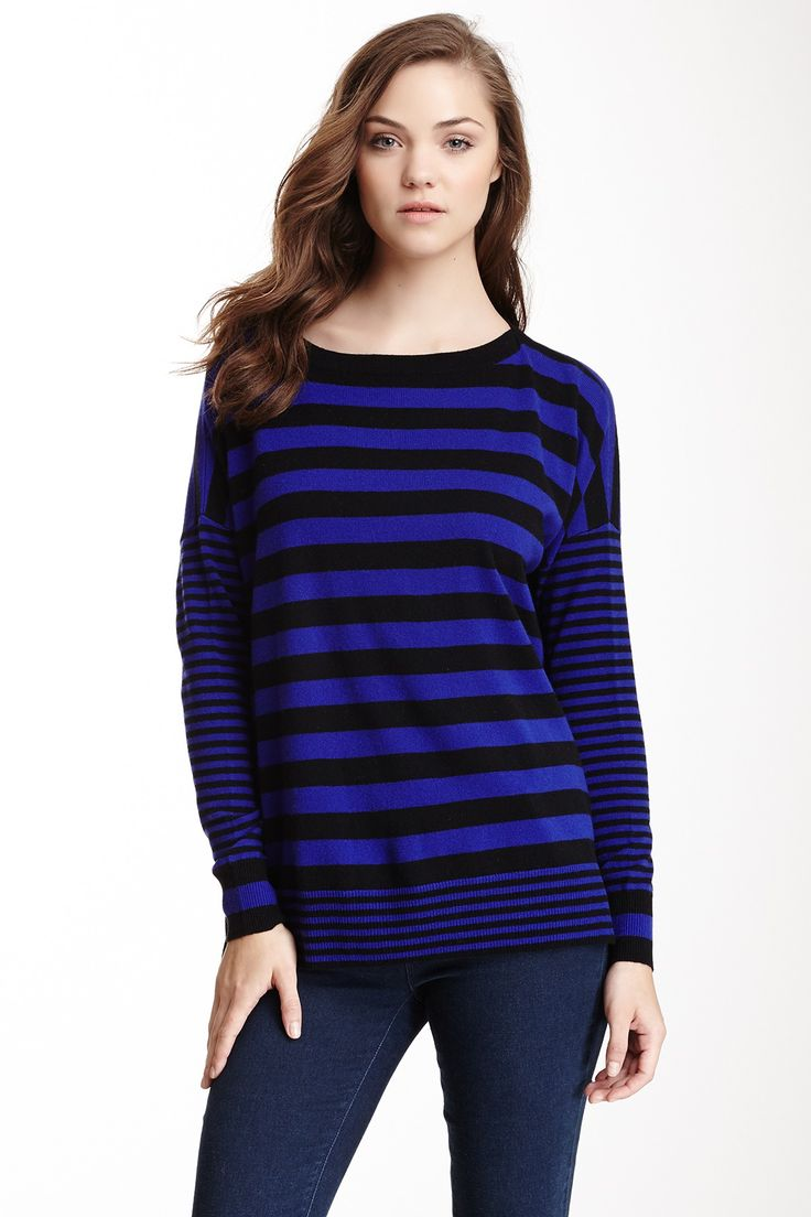 Autumn Cashmere Mixed Stripe Boatneck Cashmere Sweater by Autumn Cashmere on @nordstrom_rack