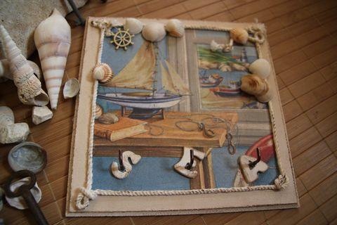 """""""SEA"""" fali kulcstartó, kalózlányoknak, fiatal matrózoknak, vén tengeri medvéknek... :-), Férfiaknak, Otthon, lakberendezés, Mindenmás, Kulcstartó, Meska"""