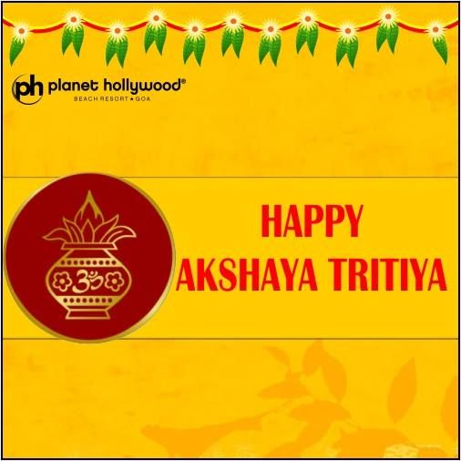 Team #PlanetHollywoodGoa wishes all - Happy #AkshayaTritiya.  On this day Veda Vyas & #LordGanesha began to write #Mahabharata. The word Akshaya, a #Sanskrit word, literally means one that never diminishes and it is an auspicious day of the birthday of Lord Parasurama who is the sixth incarnation of #LordVishnu. This day is believed to bring good luck and success.  #LetThereBeFame, visit www.planethollywoodgoa.com for details.